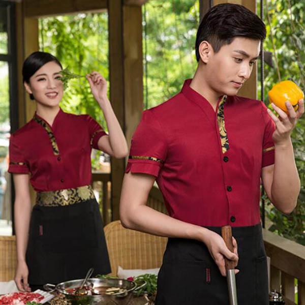 餐饮服务员工作服款式图片