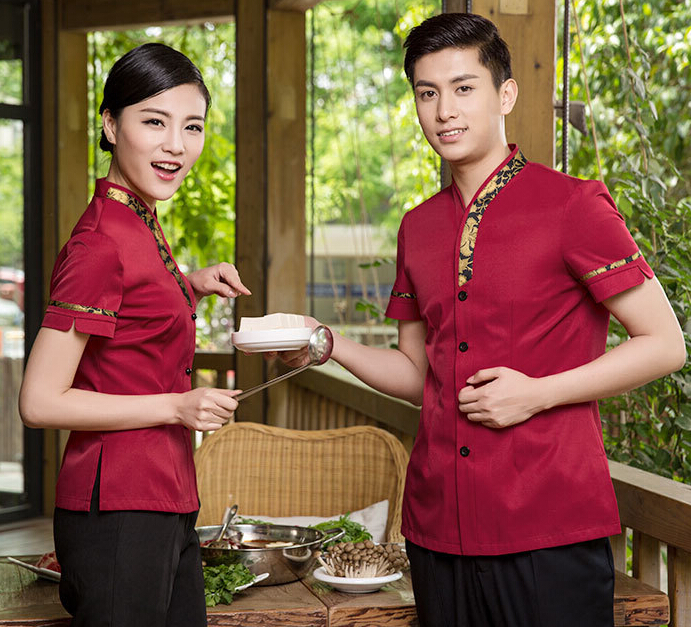 饭店服务员工作服女装