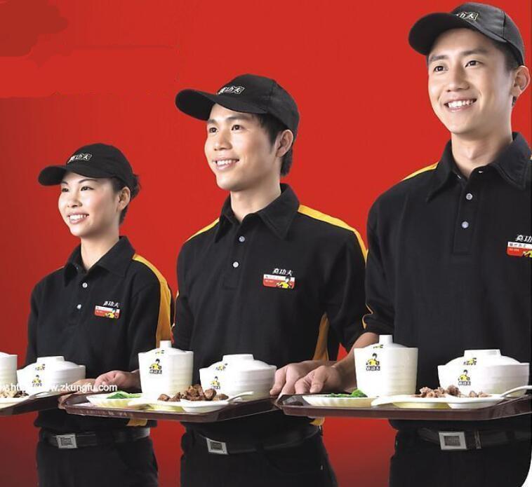 好看的餐饮服务员工作服款式图片